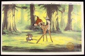 "Walt Disney ""Bambi"" Ltd Ed Serigraph Cel DisneySeri186"