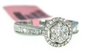 18KT White Gold .66ct Diamond Ring FJM716