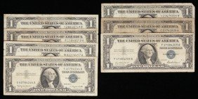 Assorted Lot Of (7) $1 Silver Certificates PMP17