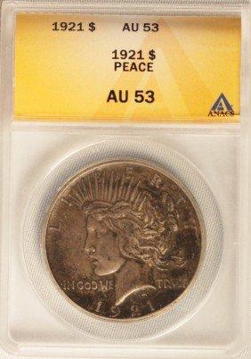 1921 Peace Dollar Silver Coin JohnGC236