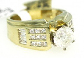 14KT Yellow Gold 3.13ct Diamond Unity Ring RM396