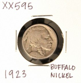 1923 Buffalo Nickel XX595