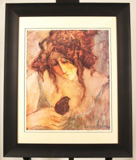 Barbara Wood Signed And Numbered Ltd Ed Lithograph ED12