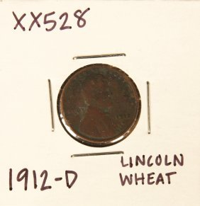1912-D Lincoln Wheat Penny XX528
