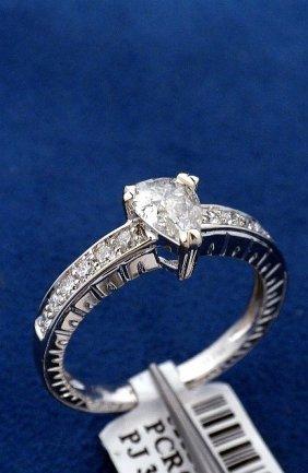 14KT White Gold .74ct Diamond Ring J27
