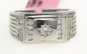 14KT White Gold .5ct Diamond Ring FJM1198