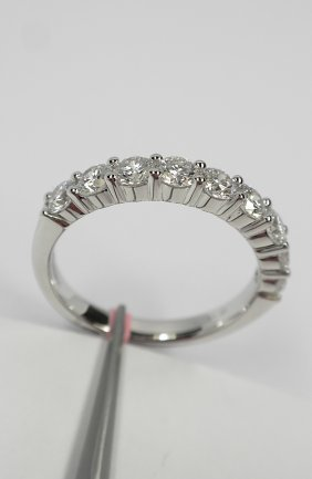14KT White Gold 0.99tcw Diamond Ring FJM1629