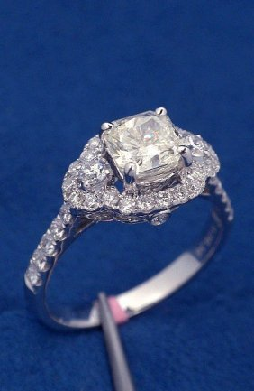 18KT White Gold 1.56ct Diamond Unity Ring FJM1242