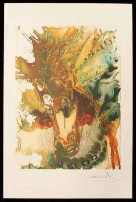 "Salvador Dali ""Bucephale"" Fine Art Print AP464"