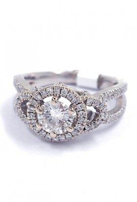 14KT White Gold 1.02tcw Diamond Ring J70