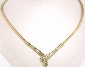 14KT Yellow Gold 2.50ct Diamond Necklace STN56