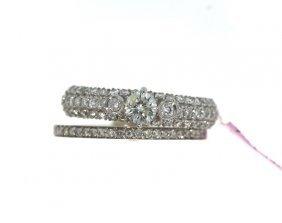 18KT White Gold 1.01tcw Diamond Ring Set FJM1640