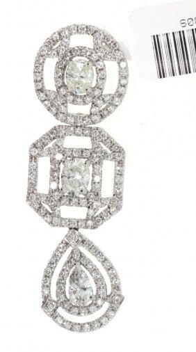 18KT White Gold 2.42ct Diamond Pendant WNK10