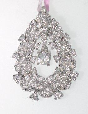 14KT White Gold Diamond Pendant FJM1334