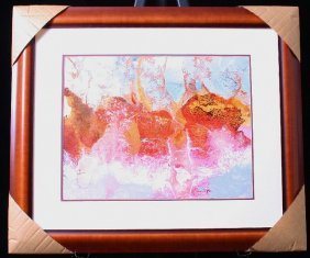 Original Abstract Watercolor By Listed Artist Phyllis L