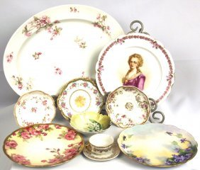 Mix Of Antique Limoges, Prussian, Sevres, Bavarian & Ge