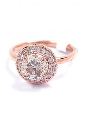 14KT Rose Gold 1.27tcw Diamond Ring A3888