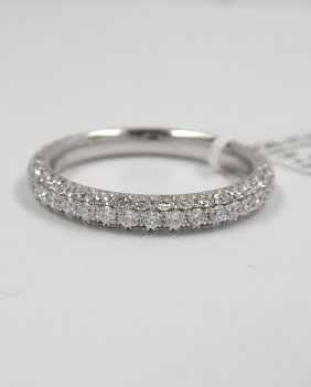 Ladies Platinum 1.63ct Diamond Anniversary Ring A3844