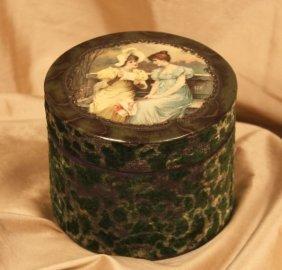Victorian Celluloid Dresser Collar Box ED615