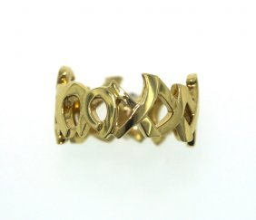 18KT Yellow Gold Tiffany & Co Palmoma Picasso Ring GB33