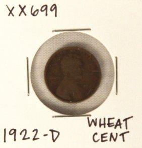 1922-D Wheat Cent XX699