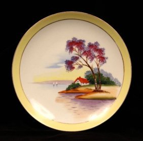 Antique Halsey Fifth Hand Painted China Plate ED917
