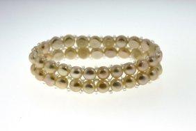 """6.5"""" Cultured Peach Pearl Bracelet PS45"""