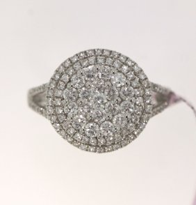 14KT White Gold 1.24ct Diamond Ring FJM1551