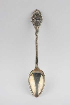 "Sterling Silver 4.5"" Florida State Souvenir Spoon ED134"