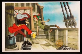 """Walt Disney """"Peter Pan"""" Serigraph Cel DisneySeri303"""