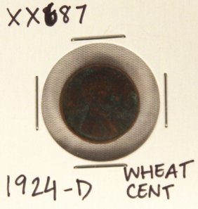 1924-D Wheat Cent XX687