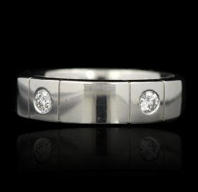 Platinum 0.30ctw Bezel Set Diamond Band GB518