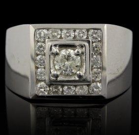 14KT White Gold 1.70ctw Diamond Ring FJM2321