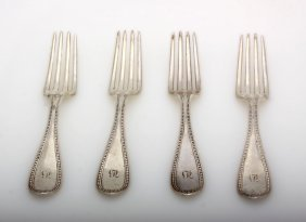 Antique Coin Silver Forks By Jones Bau & Co ED1430