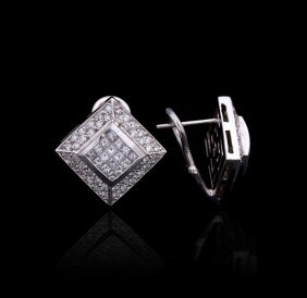 14KT White Gold 2.68ctw Diamond Earrings GB1330