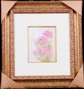 Beautiful Floral S/N Litho By Mary Vincent Bertrand ED3