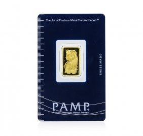 5 Gram Gold Bar - Pamp Suisse Lady Fortuna 999.9 Fine