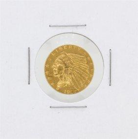 1927 $2.50 Au Indian Head Quarter Eagle Gold Coin