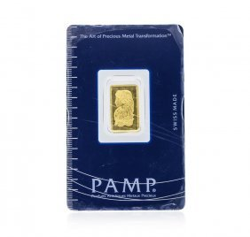 2.5 Gram Gold Bar - Pamp Suisse Lady Fortuna 999.9 Fine