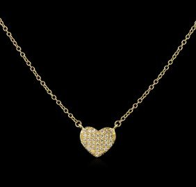 0.12ctw Diamond Necklace - 14kt Yellow Gold
