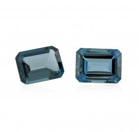 58.78ctw. Natural Emerald Cut Blue Topaz Parcel