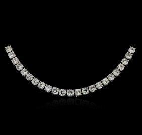18kt White Gold 21.08ctw Diamond Necklace