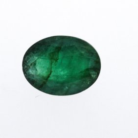 7.05ct. One Oval Cut Natural Emerald