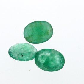 4.56cts. Oval Cut Natural Emerald Parcel