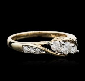 10kt Yellow Gold 0.50ctw Diamond Ring