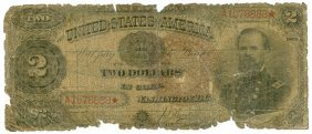 1890 $2 United States Bank Note