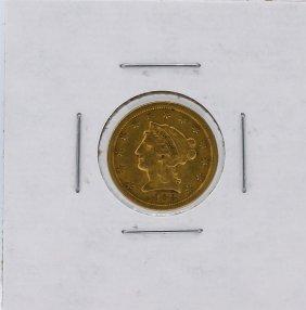 1868-s $2.50 Liberty Head Quarter Eagle Gold Coin