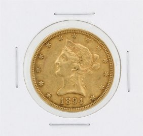 1894 $10 Xf Liberty Head Eagle Gold Coin