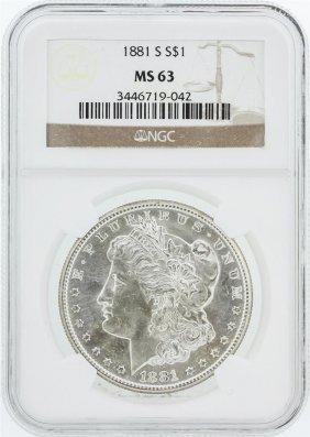 1881 Ngc Ms63 Morgan Silver Dollar
