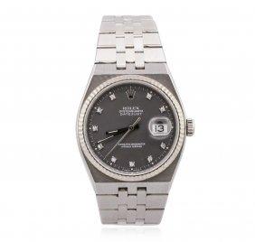Rolex Stainless Steel Oysterquartz Datejust Men's Watch